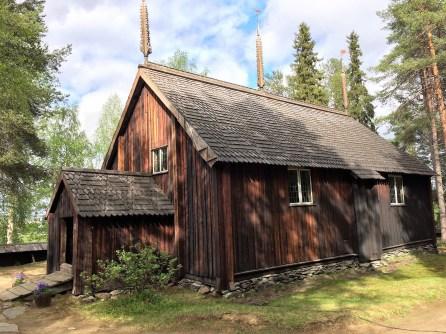 älteste Holzkirche Finnlands in Sodankyla