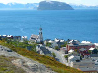 Hammerfest von oben
