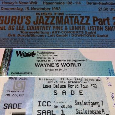 Zeitreise : alte Konzertkarten