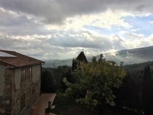 Regenwolken über der Toskana