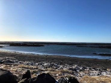 Lavafelder im Meer
