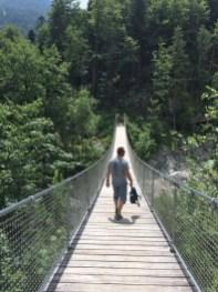 Hängebrücke im Klausbachtal