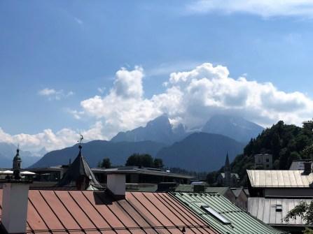 Über den Dächern von Bad Reichenhall - der Watzmann