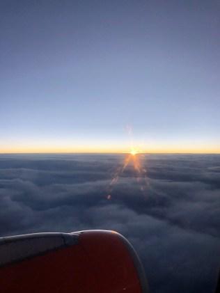 Wieder im Flugzeug