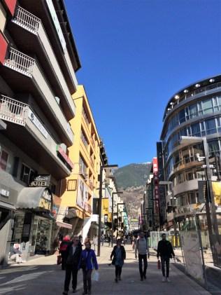 Einkaufsmeile in Andorra