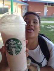 Strawberry frap at Starbucks.