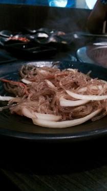 Glass noodles at Gen Kbbq.