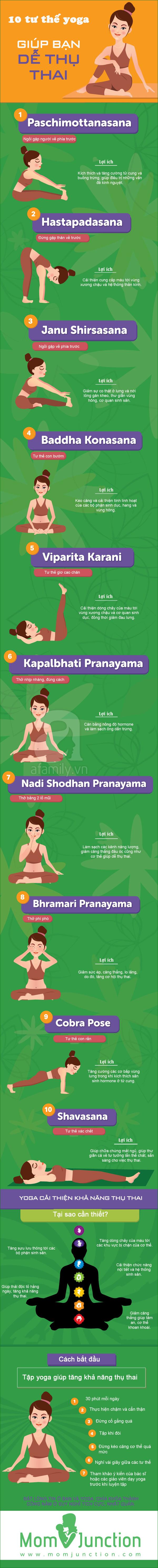 tư thế yoga dễ thụ thai