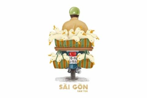 Đã có một Sài Gòn ngập tràn màu sắc… sau lưng những người bán hàng gầy khẳng khiu, bờ vai áo sờn rách cả ngày rong ruổi khắp phố phường hòng kiếm kế sinh nhai