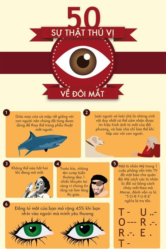Năm mươi sự thật về đôi mắt