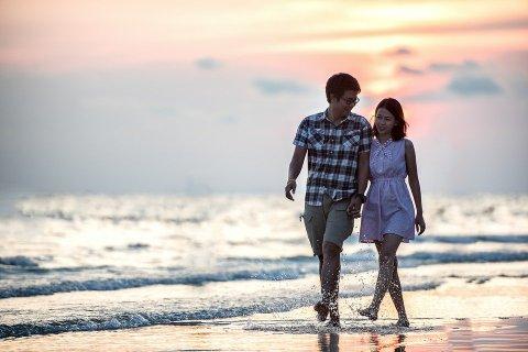 Cặp Vợ Chồng, Nắm Tay, Bãi Biển, Những Người Yêu Thích