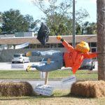 Windy day pumpkin