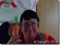 Easter Bunny ears and carrot of candy