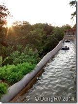 Schlitterbahn tubing at sunset