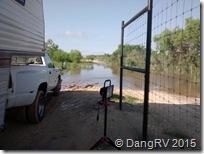 Behind gate flooding