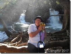 George enjoyed the waterfalls too