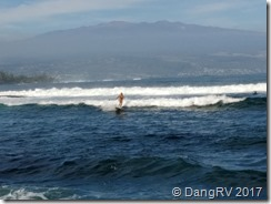 Surf's up in Hilo, HI