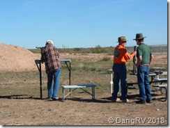 Air rifle range shooting