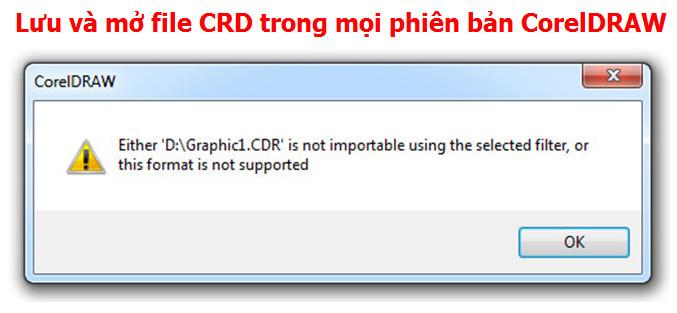 Lưu và mở file CDR trong mọi phiên bản CorelDRAW