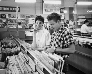Sharon Sheeley and Eddie Cochran Shopping for Records