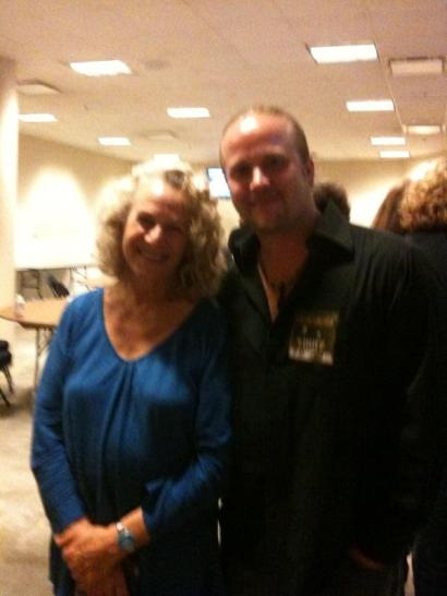 With Carole King Backstage