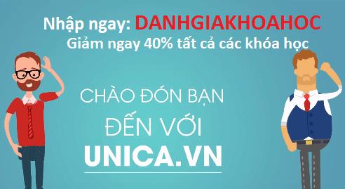 Mã giảm giá Unica mới nhất, giảm 40% cho tất cả các khóa học