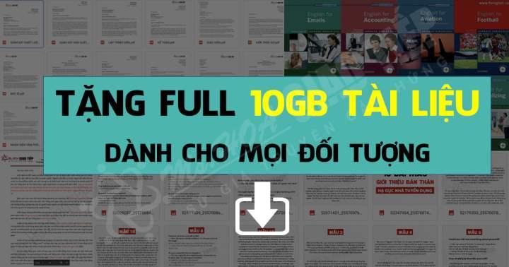 MIỄN PHÍ-Tất tần tật full 10 GB tài liệu tiếng Anh giao tiếp