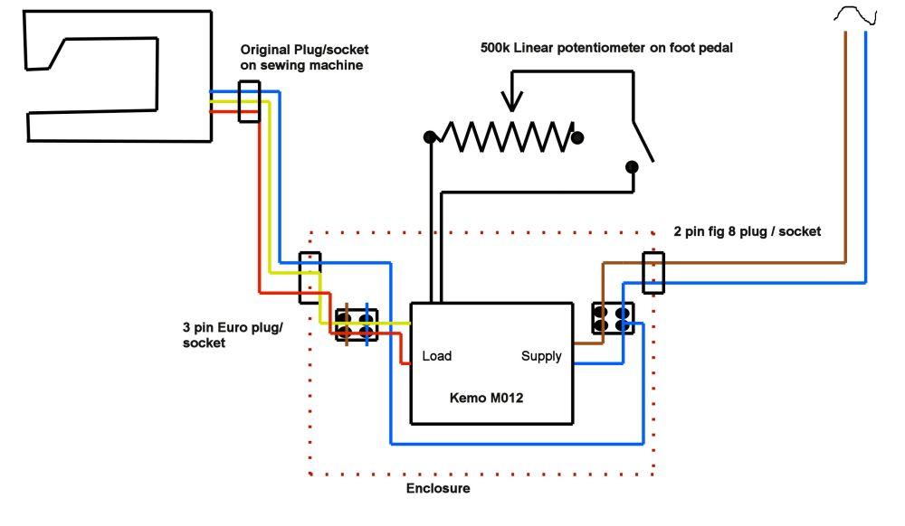 medium resolution of sew machine motor wire diagram 3
