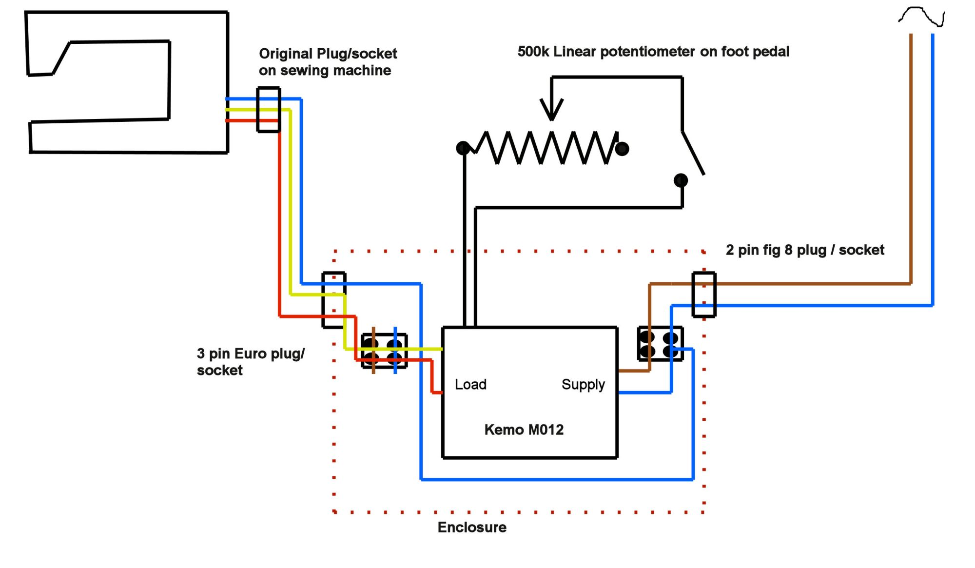 hight resolution of sew machine motor wire diagram 3
