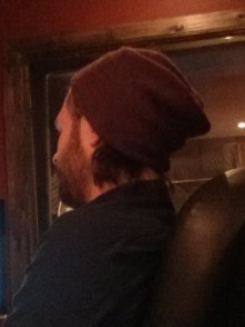 Here, Dave is sporting a plain toque, but with a twist! Look how carelessly it is perched atop his head, as if he just threw it on without any thought for how it looks. This level of nonchalance takes years of practice.
