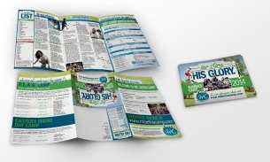 Design for the self-mailing brochure of Mt. Aetna Summer Camp, as part of the team at Icon Graphics.