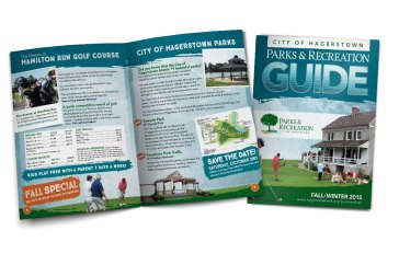 Design of the 12-page brochure for the City of Hagerstown's Parks and Recreation fall/winter guide of 2015. Designed as part of the team at Icon Graphics.