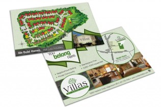 Postcard handout design for Cortland Villas, to be used at the annual Home Builders show in Hagerstown, MD. Design as part of the team at Icon Graphics.