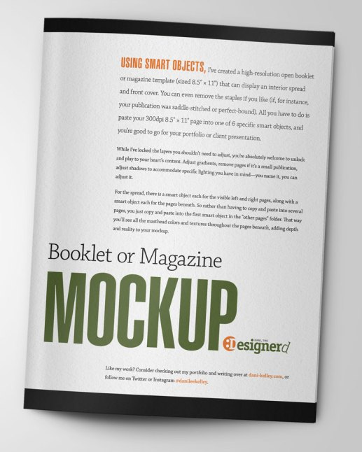 Magazine cover for use mocking up items for your portfolio or a client presentation.