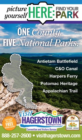An ad design as part of the team at Icon Graphics for the Visit Hagerstown and Washington County Convention and Visitors Bureau, in cooperation with the National Park Service.