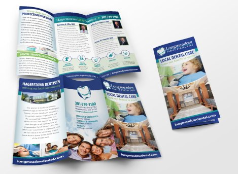 2016. Brochure design for Longmeadow Family Dental Care, as part of the team at Icon Graphics.