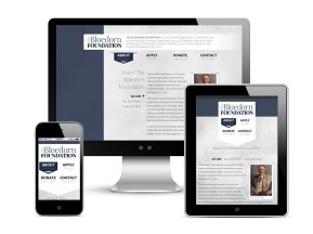 Website design for The Bloedorn Foundation, as part of the team at Icon Graphics. See it live!