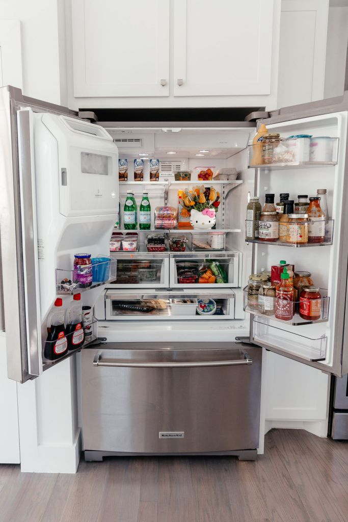 dani austin fridge organization kitchen reveal