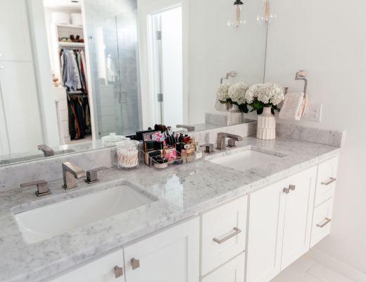 dani austin bathroom decor ideas skincare essentials