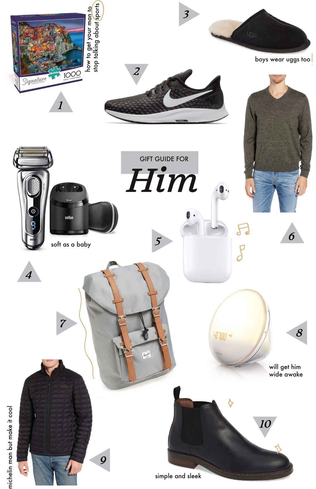 gift guide for him christmas 2018 dani austin