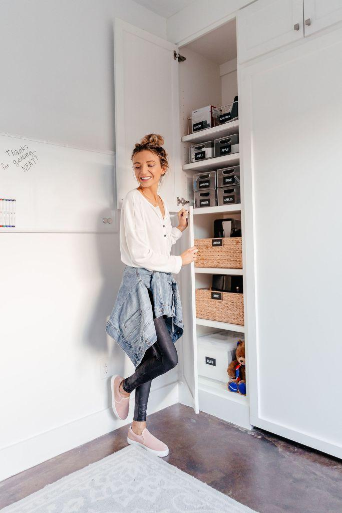 dani austin home office organization tips