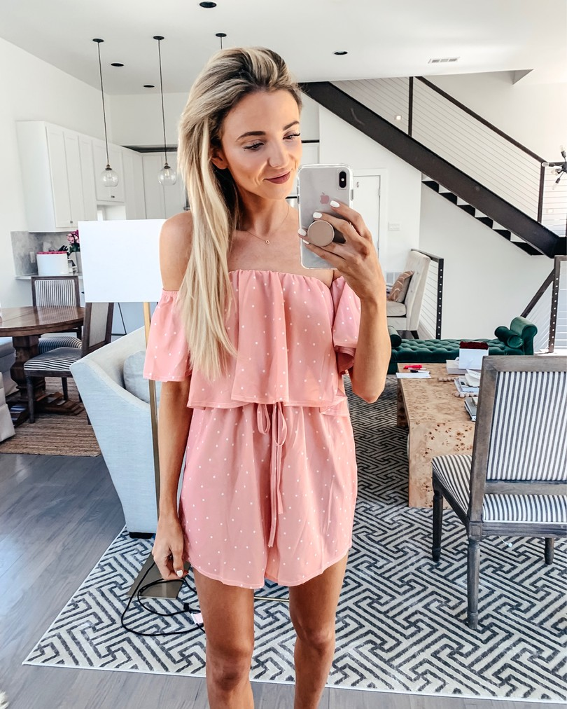 pink amazon romper cover up