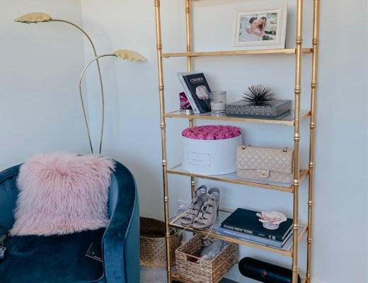pier 1 gold bookcase