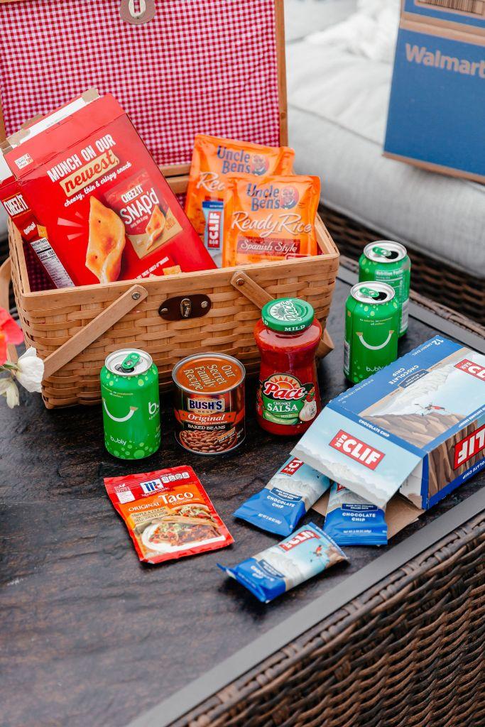 dani austin walmart x feeding america grocery items