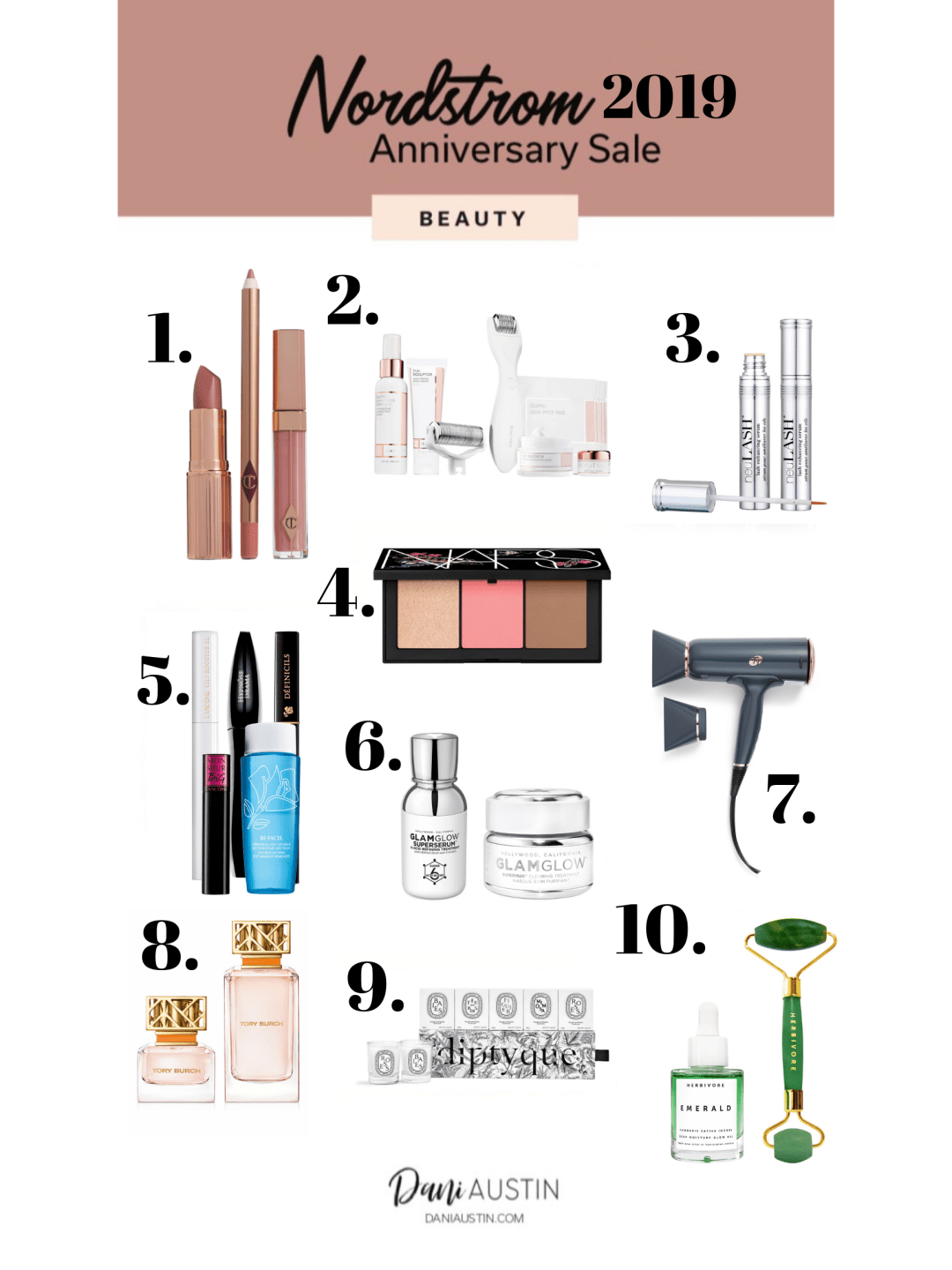 dani austin nordstrom anniversary beauty finds