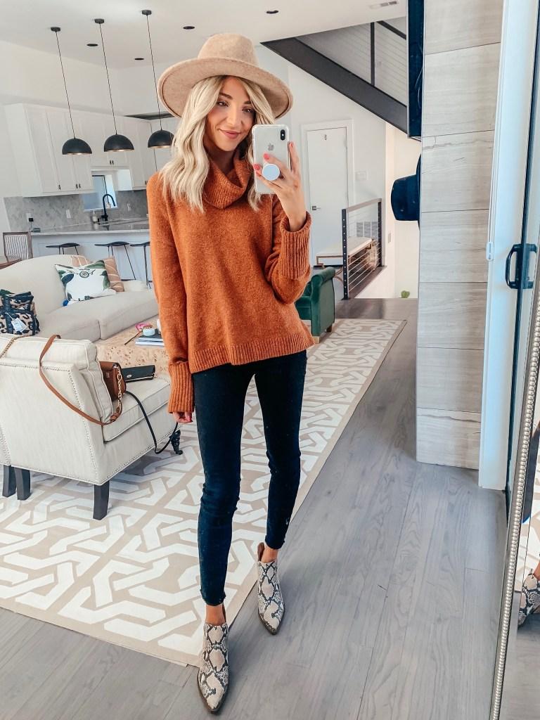 chelsea28 orange sweater