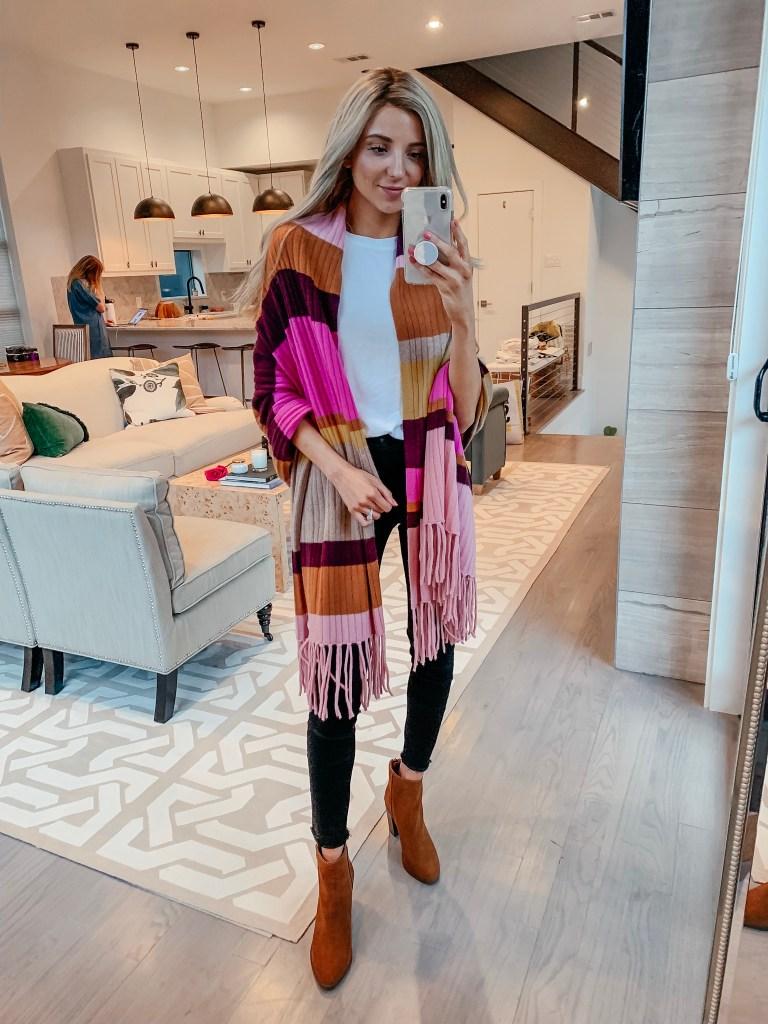 cashmere colorblock wrap