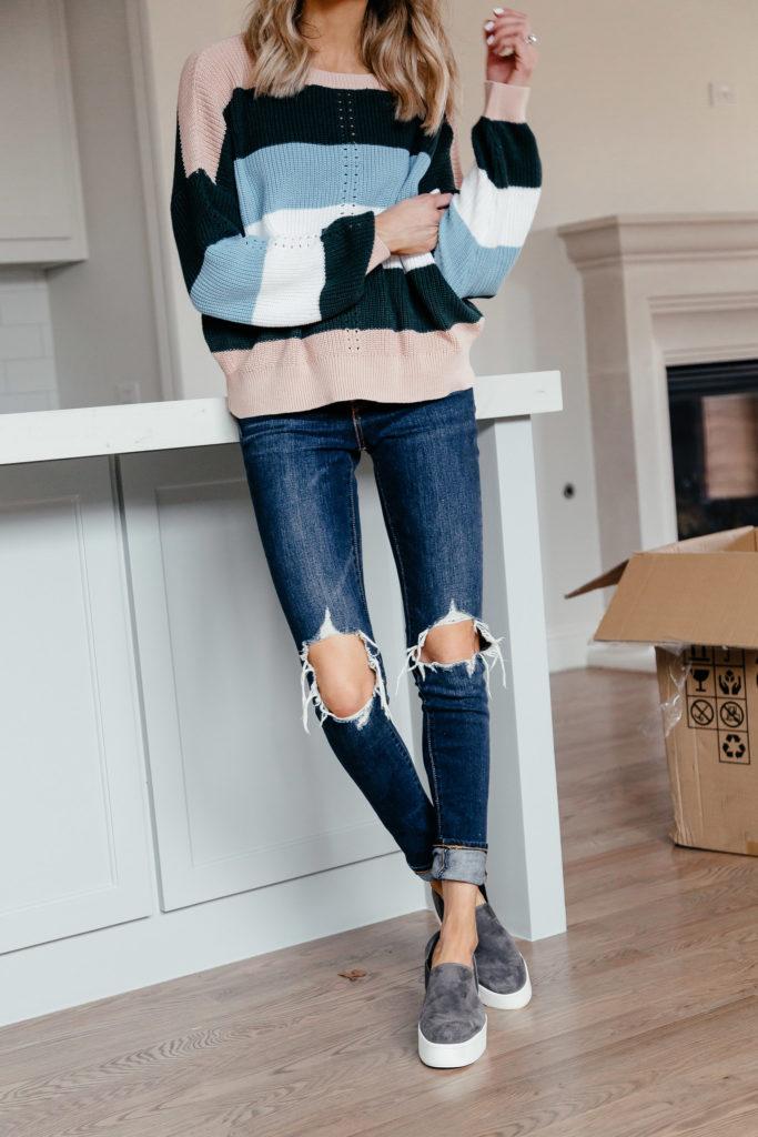 Rent vs Buy House Dani Austin Striped Sweater1