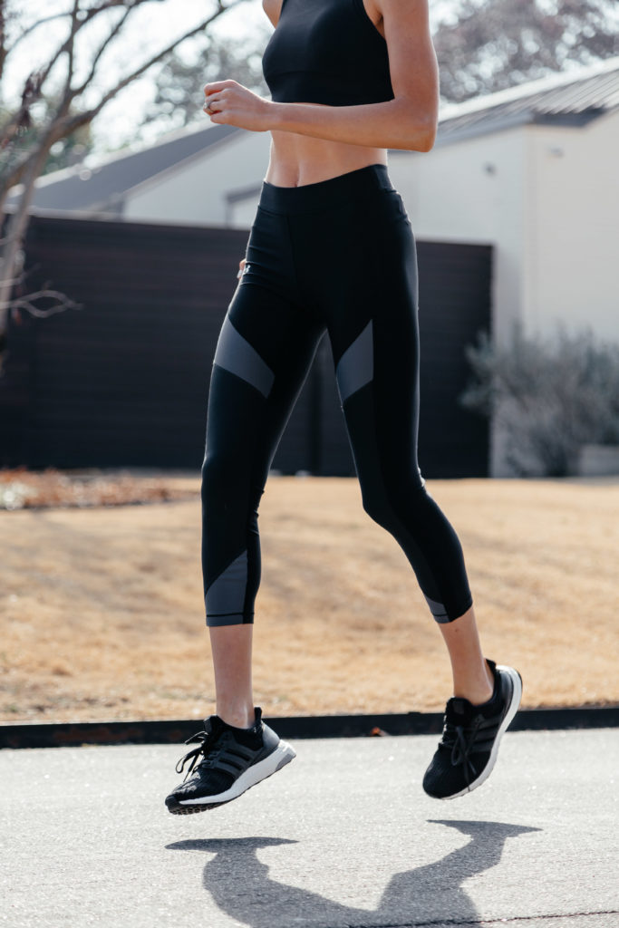 black running shoes workout outfit running tips dani austin