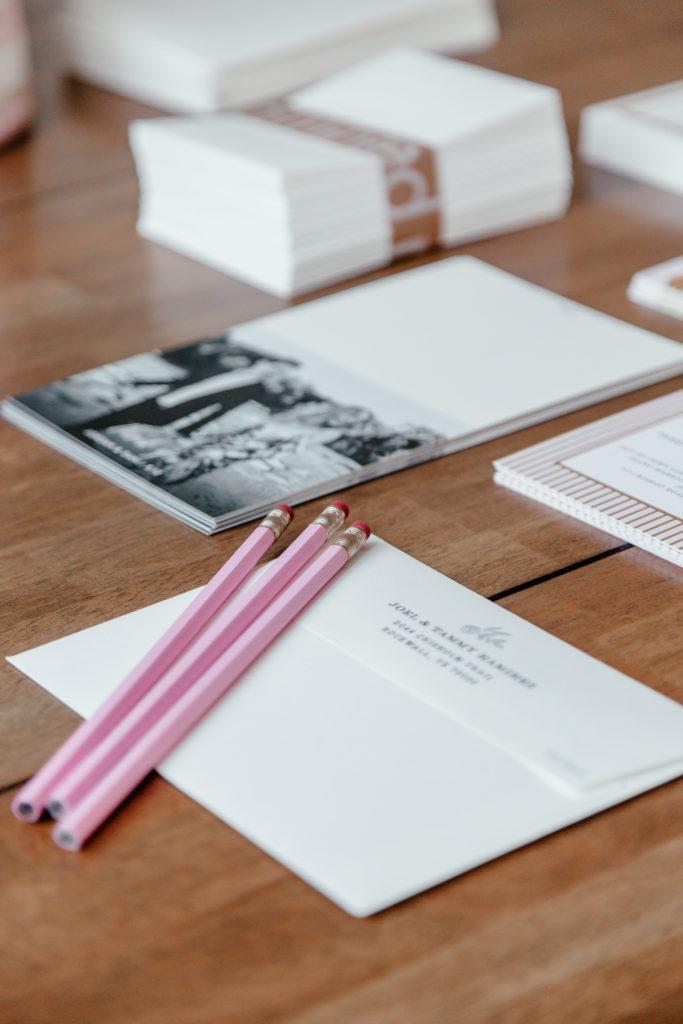 dani austin minted wedding invitations kitchen table